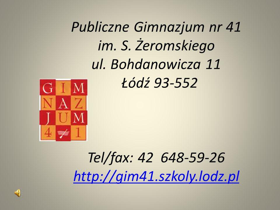 Publiczne Gimnazjum nr 41 im.S. Żeromskiego ul.