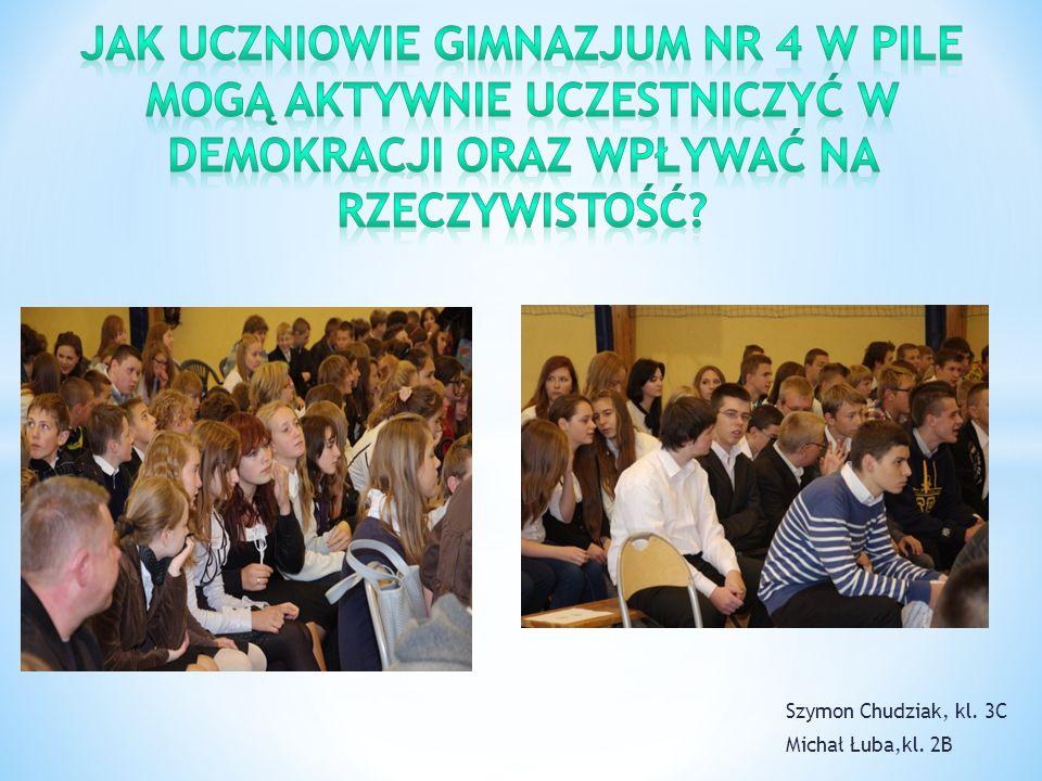 Według naszych uczniów najlepszym sposobem na zmotywowanie młodzieży do aktywnego uczestnczenia w demokracji jest wprowadzenie spotkań z politykami, na których młodzież mogłaby zadawać pytania dotyczące swoich problemów.