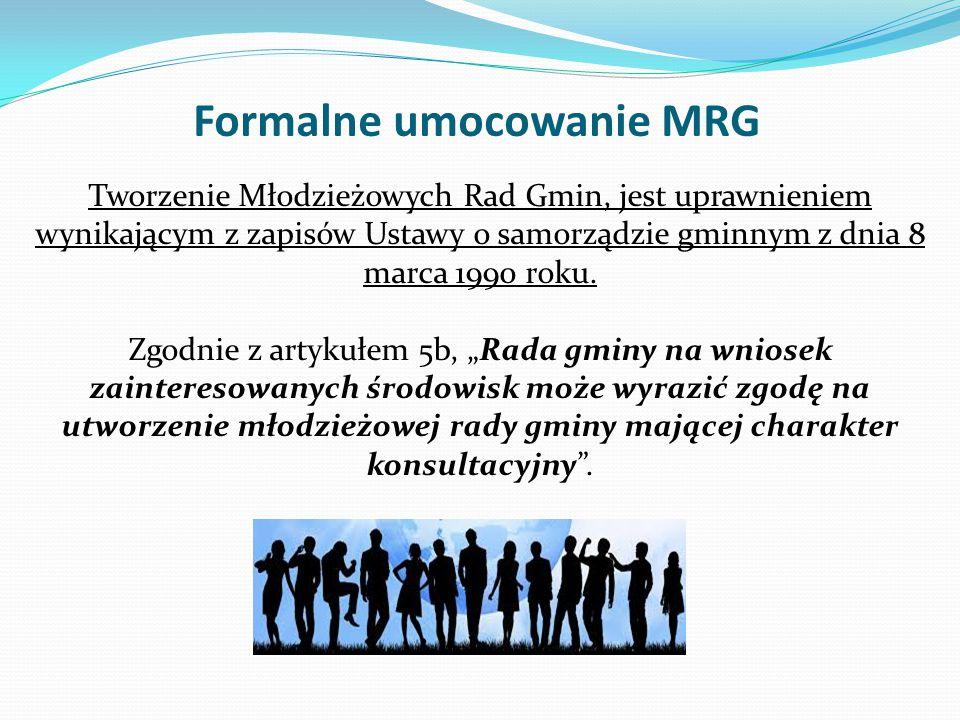 Sposób wyłaniania MRG – wybory do MRG Organizacja wyborów młodzieżowych radnych jest kluczowym elementem jej ukonstytuowania i warunkiem sprawnego działania.