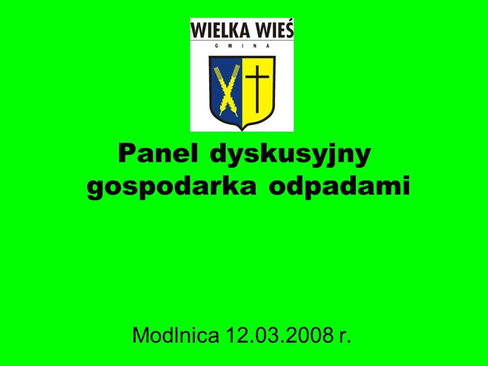 Panel dyskusyjny gospodarka odpadami Modlnica 12.03.2008 r.