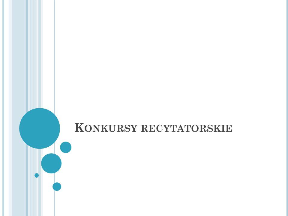 K ONKURSY RECYTATORSKIE