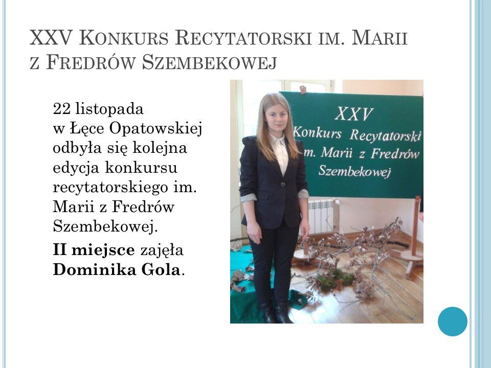 XXV K ONKURS R ECYTATORSKI IM.