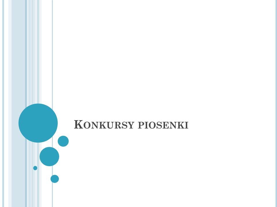 K ONKURSY PIOSENKI