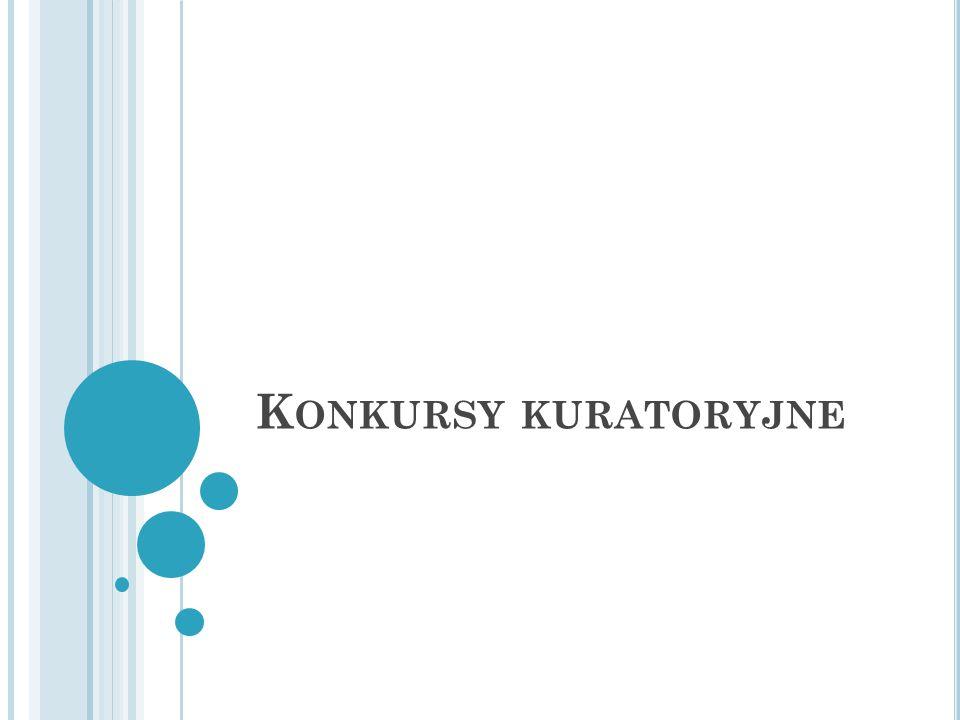 K ONKURSY KURATORYJNE