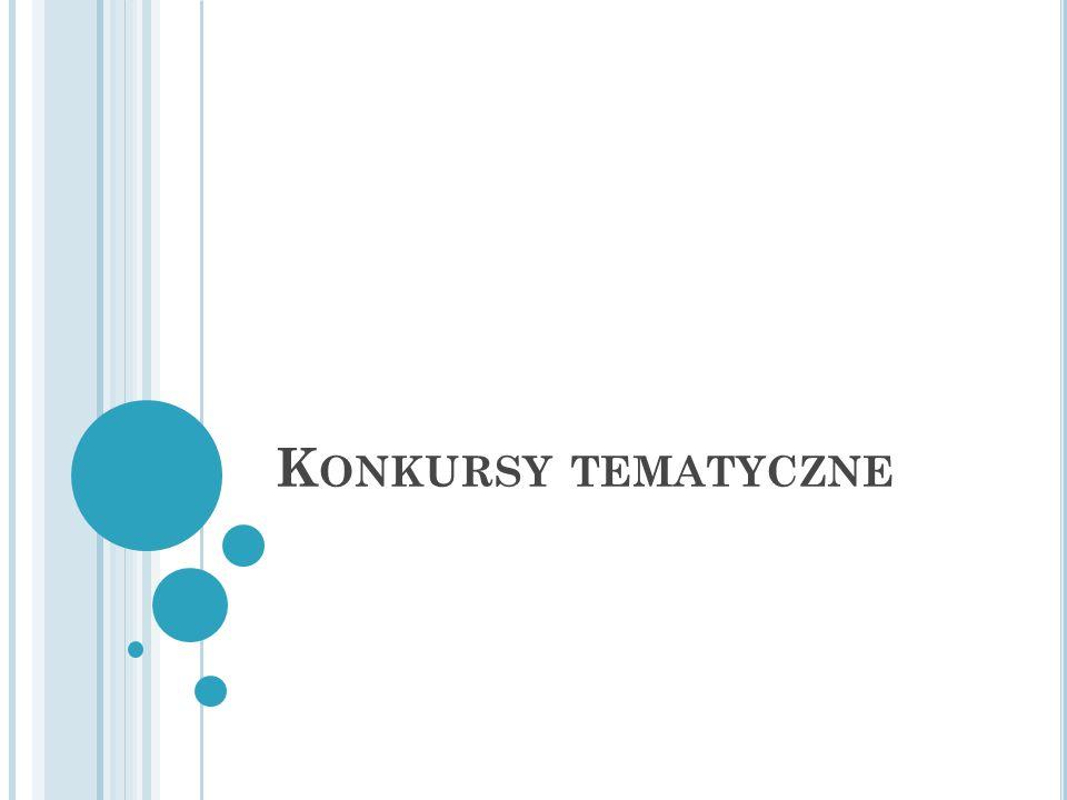 K ONKURSY TEMATYCZNE