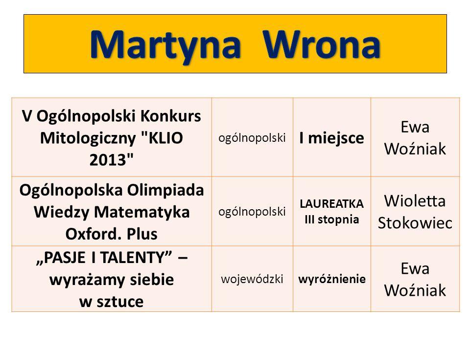 V Ogólnopolski Konkurs Mitologiczny