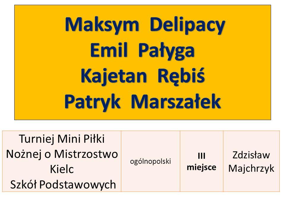 Turniej Mini Piłki Nożnej o Mistrzostwo Kielc Szkół Podstawowych ogólnopolski III miejsce Zdzisław Majchrzyk