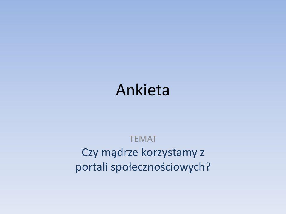 Ankieta została przeprowadzona wśród młodzieży Gimnazjum Gminy Oleśnica.