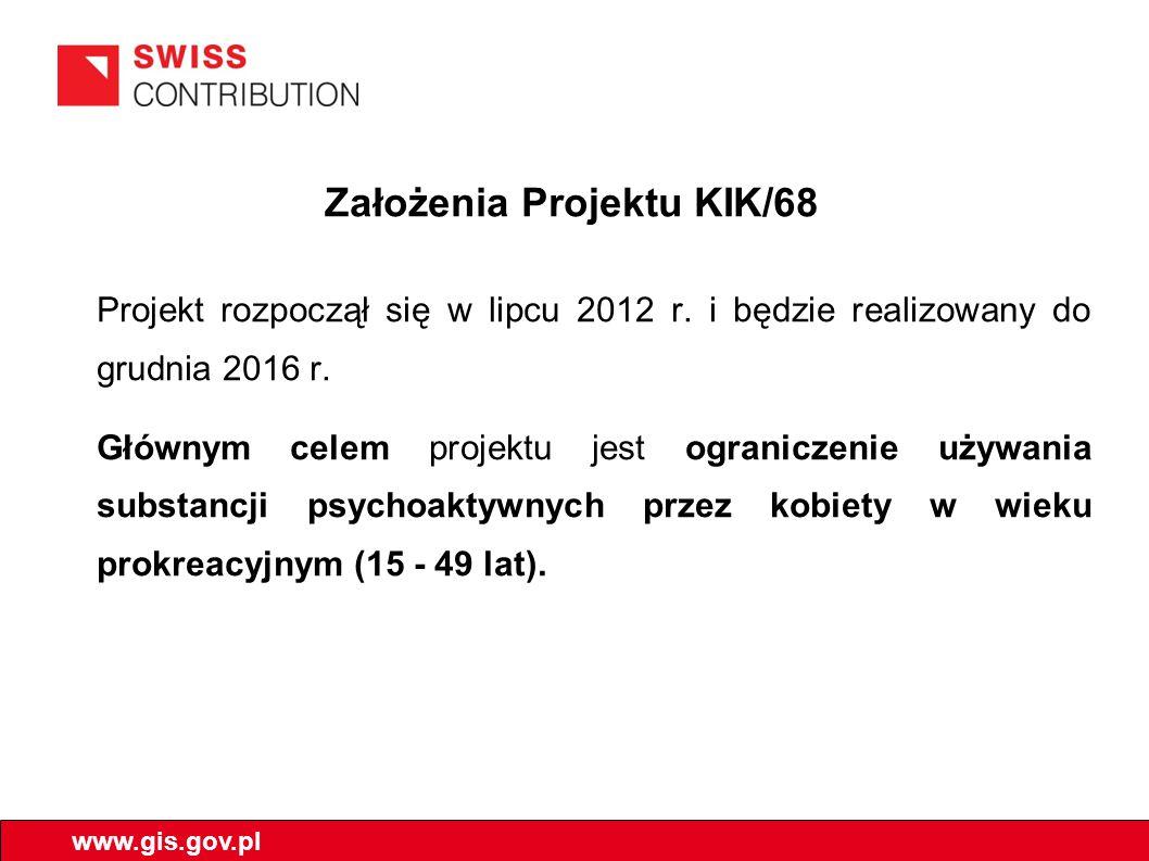 Założenia Projektu KIK/68 Projekt rozpoczął się w lipcu 2012 r.