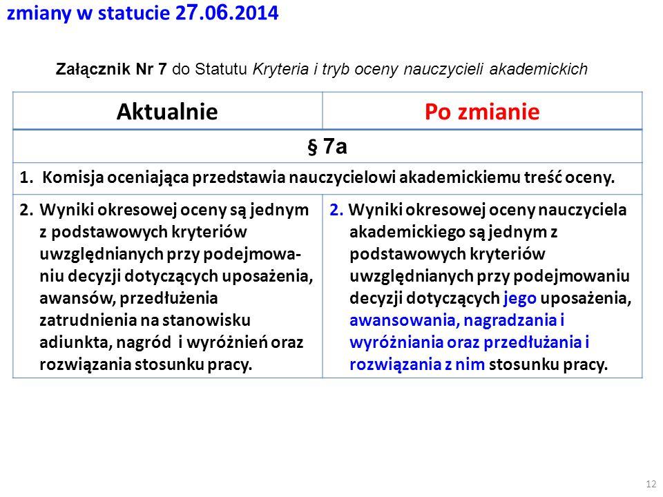 zmiany w statucie 2 7.0 6.2014 AktualniePo zmianie § 7a 1.