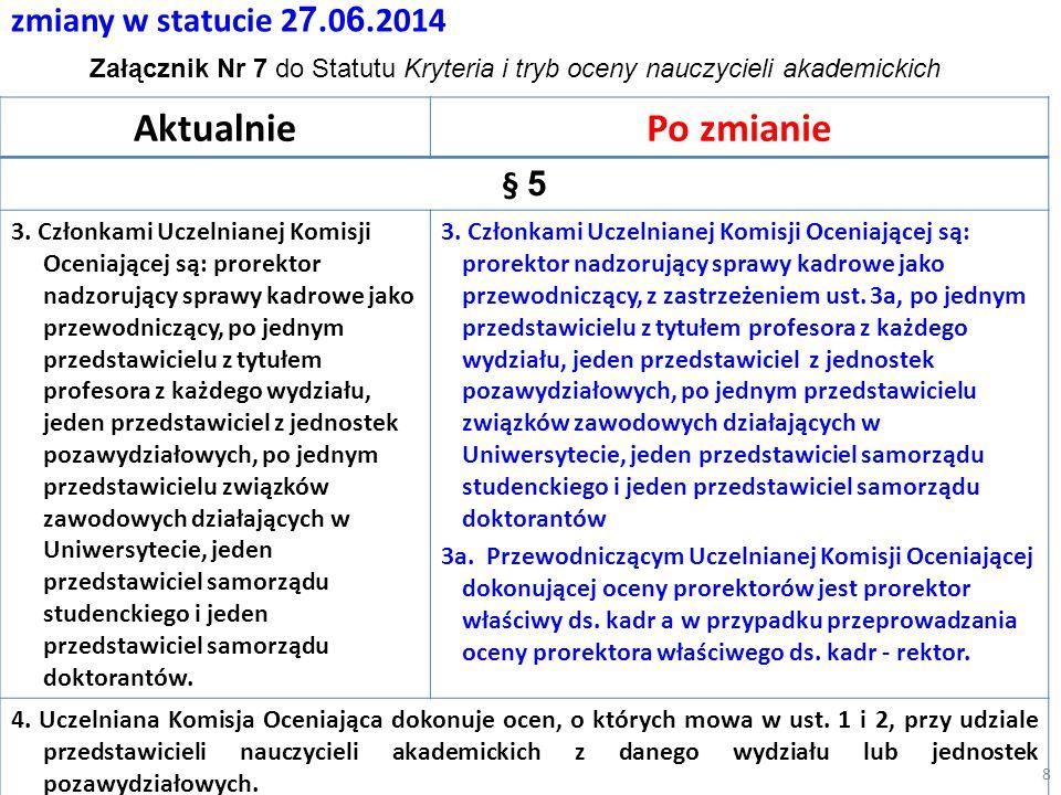 zmiany w statucie 2 7.0 6.2014 AktualniePo zmianie § 5 3.