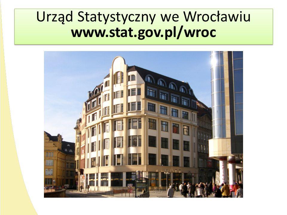 Urząd Statystyczny we Wrocławiu www.stat.gov.pl/wroc Urząd Statystyczny we Wrocławiu www.stat.gov.pl/wroc