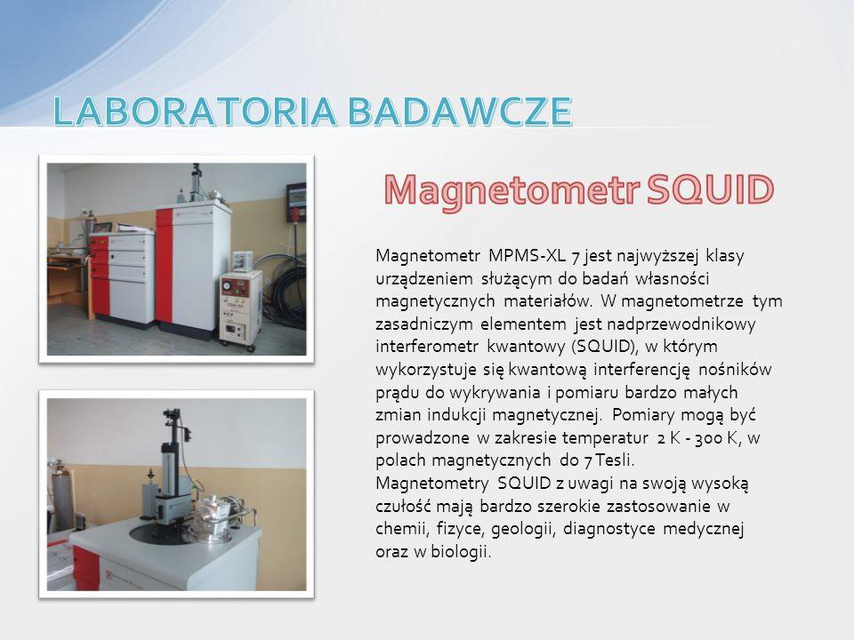 Magnetometr MPMS-XL 7 jest najwyższej klasy urządzeniem służącym do badań własności magnetycznych materiałów. W magnetometrze tym zasadniczym elemente