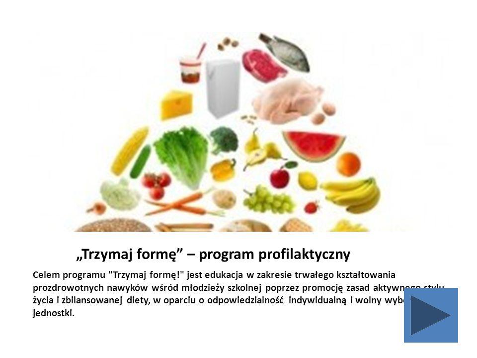 """""""Trzymaj formę"""" – program profilaktyczny Celem programu"""
