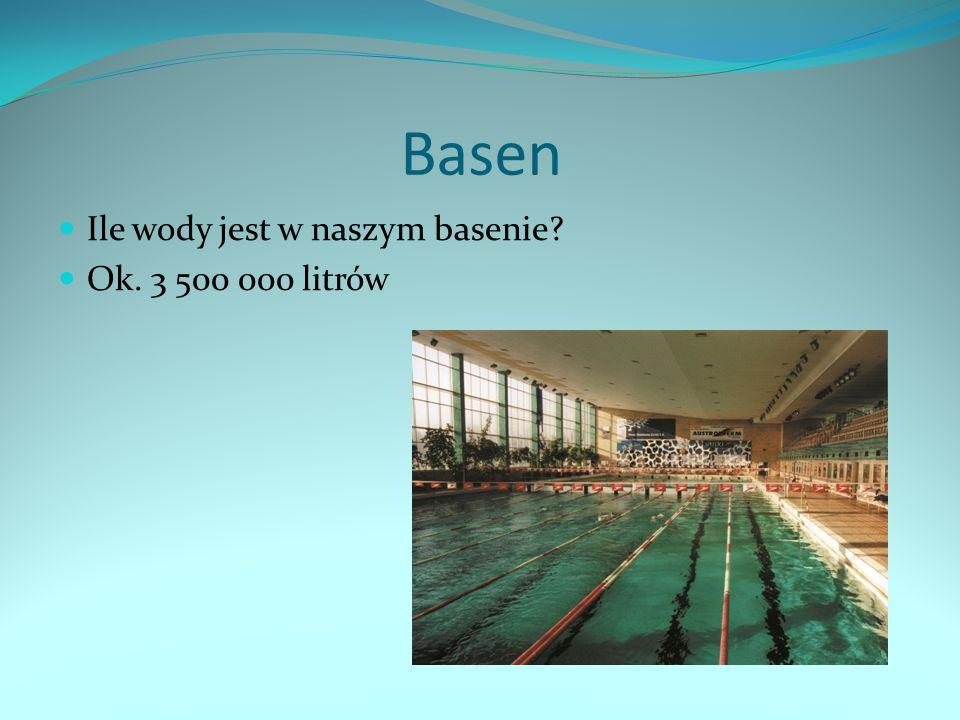 Basen Ile wody jest w naszym basenie? Ok. 3 500 000 litrów