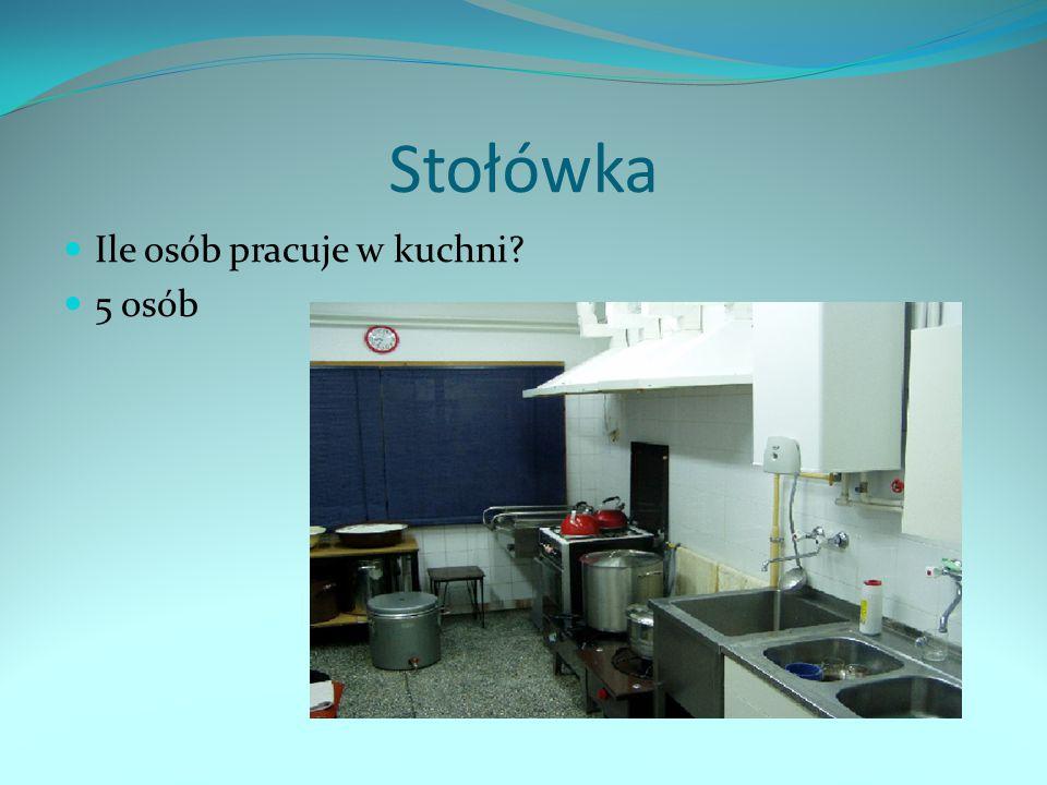 Stołówka Ile osób pracuje w kuchni? 5 osób