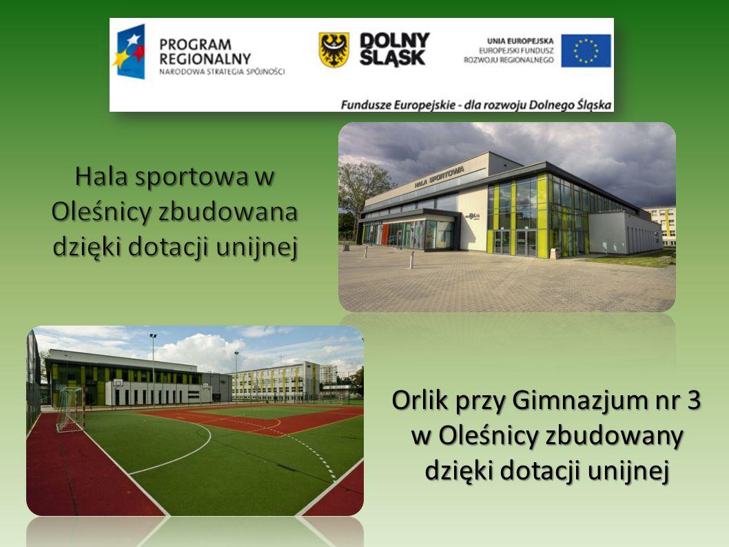 Orlik przy Gimnazjum nr 3 w Oleśnicy zbudowany dzięki dotacji unijnej