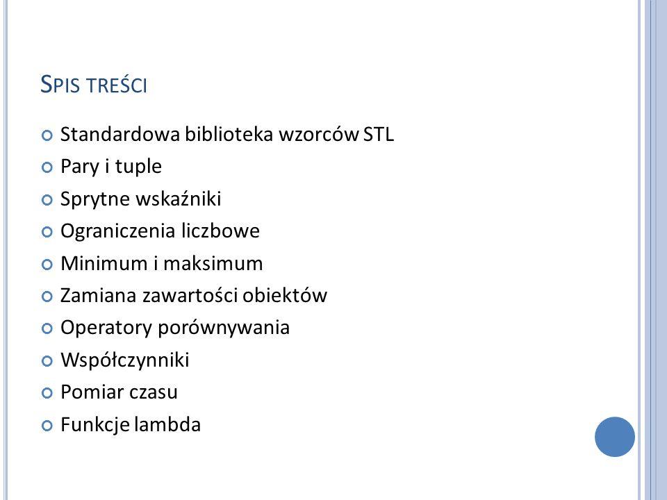 STL STL (ang.Standard Template Library) to standardowa biblioteka wzorców w C++.
