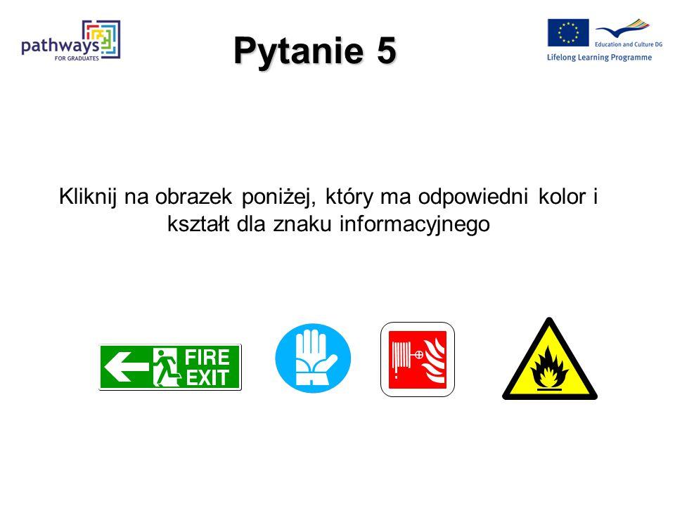 Następne pytanie Prawidłowa konstrukcja znaku pożarowego to : a)Kwadratowy kształt b)Biały piktogram na czerwonym tle, biała krawędź. Odpowiedź prawid
