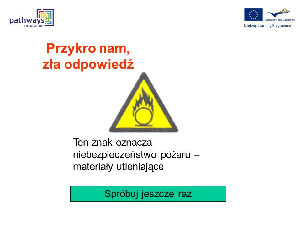 Który z poniższych znaków oznacza ostrzeżenie przed porażeniem prądem elektrycznym Pytanie 8