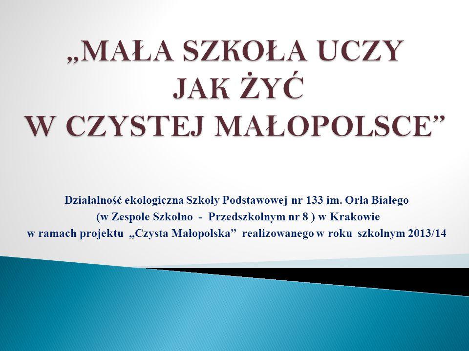Działalność ekologiczna Szkoły Podstawowej nr 133 im.