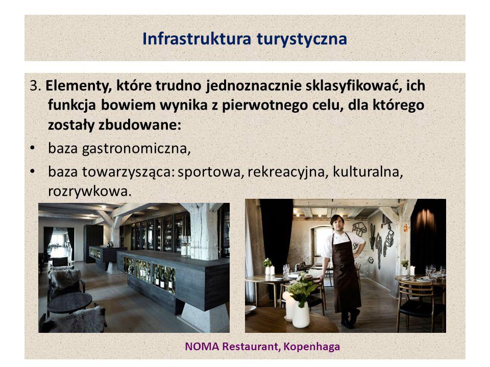 Infrastruktura turystyczna 3. Elementy, które trudno jednoznacznie sklasyfikować, ich funkcja bowiem wynika z pierwotnego celu, dla którego zostały zb