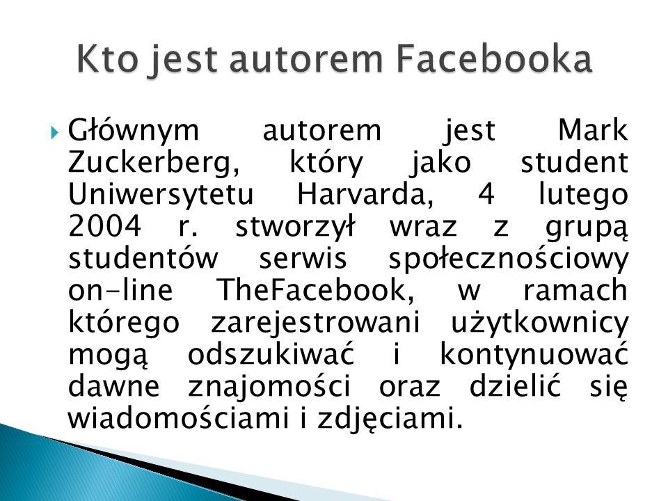  W marcu 2008 autor portalu, 23-letni Mark Zuckerberg, zajął 735.