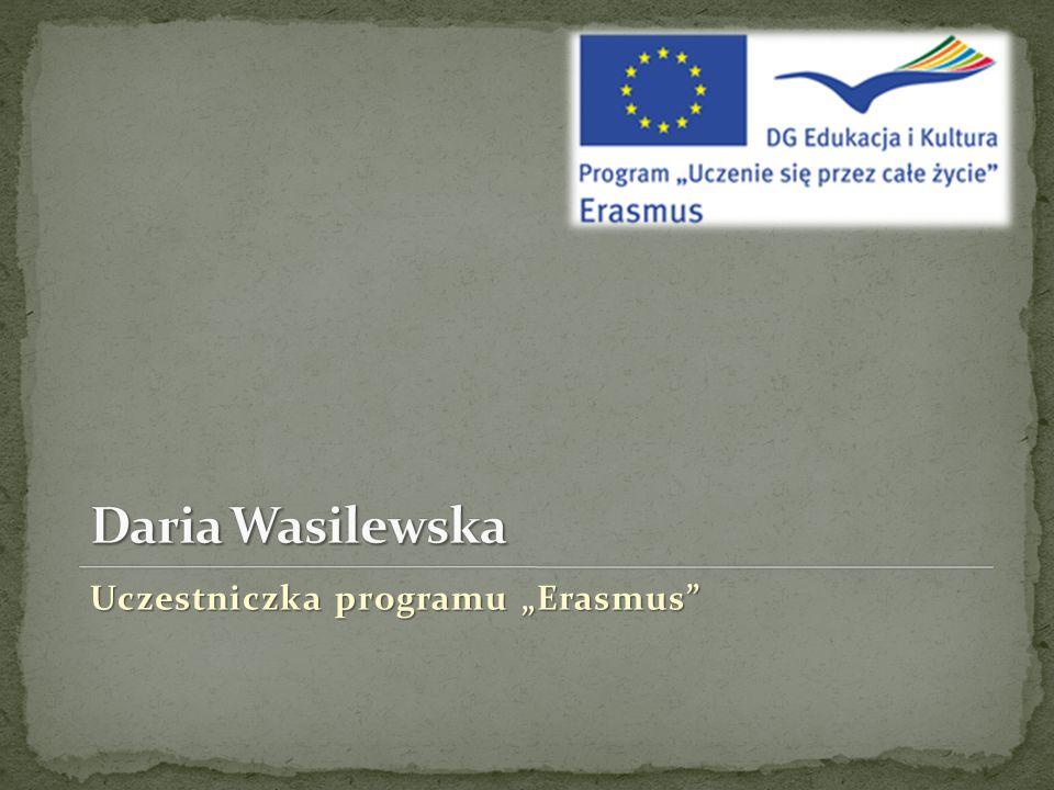 """Uczestniczka programu """"Erasmus"""""""