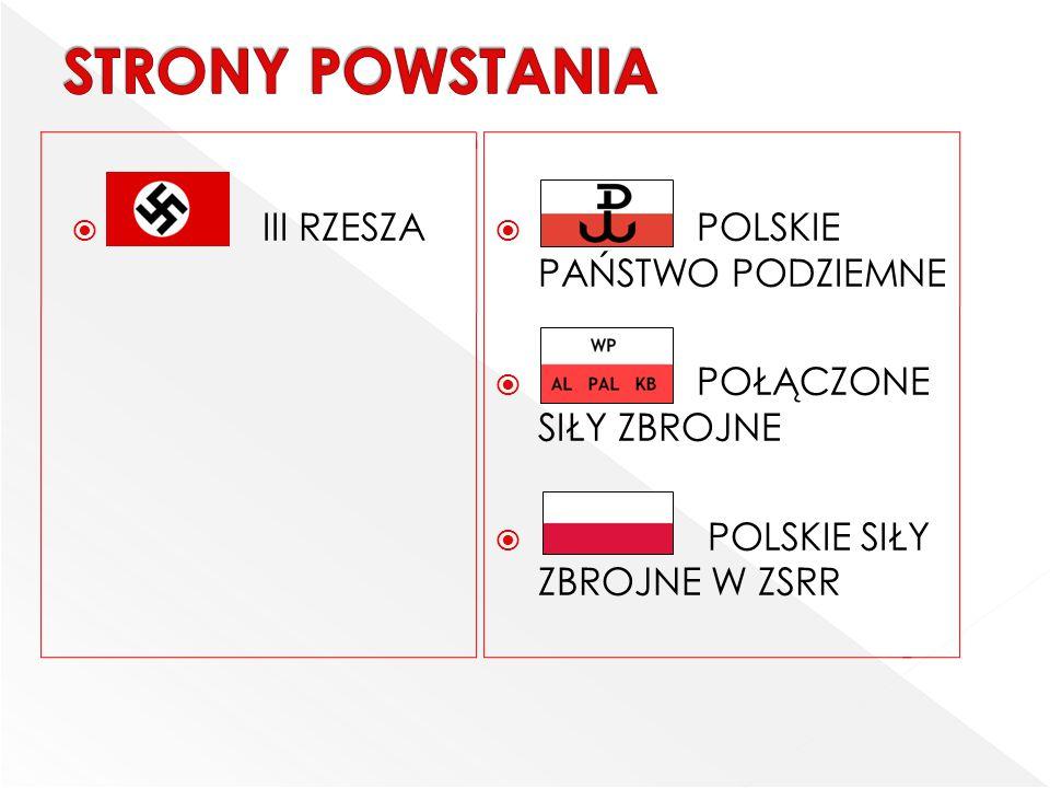 W momencie wybuchu powstania warszawskiego główny ciężar walki z Niemcami wzięły na siebie oddziały Armii Krajowej.