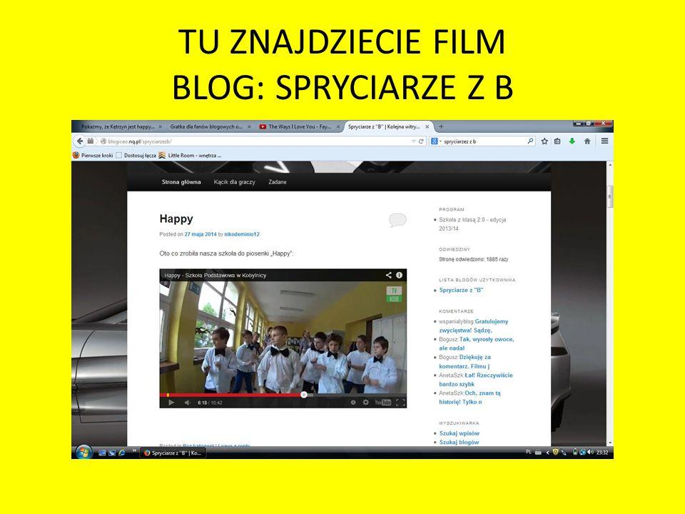 TU ZNAJDZIECIE FILM BLOG: SPRYCIARZE Z B