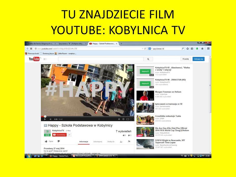 TU ZNAJDZIECIE FILM YOUTUBE: KOBYLNICA TV