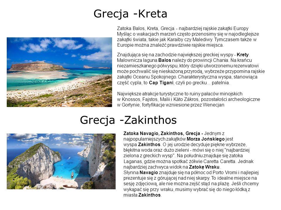 Grecja -Kreta Zatoka Balos, Kreta, Grecja - najbardziej rajskie zakątki Europy Myśląc o wakacjach marzeń często przenosimy się w najodleglejsze zakątk