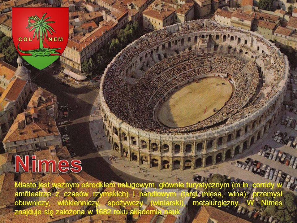 Miasto jest ważnym ośrodkiem usługowym, głównie turystycznym (m.in. corridy w amfiteatrze z czasów rzymskich) i handlowym (targi mięsa, wina); przemys