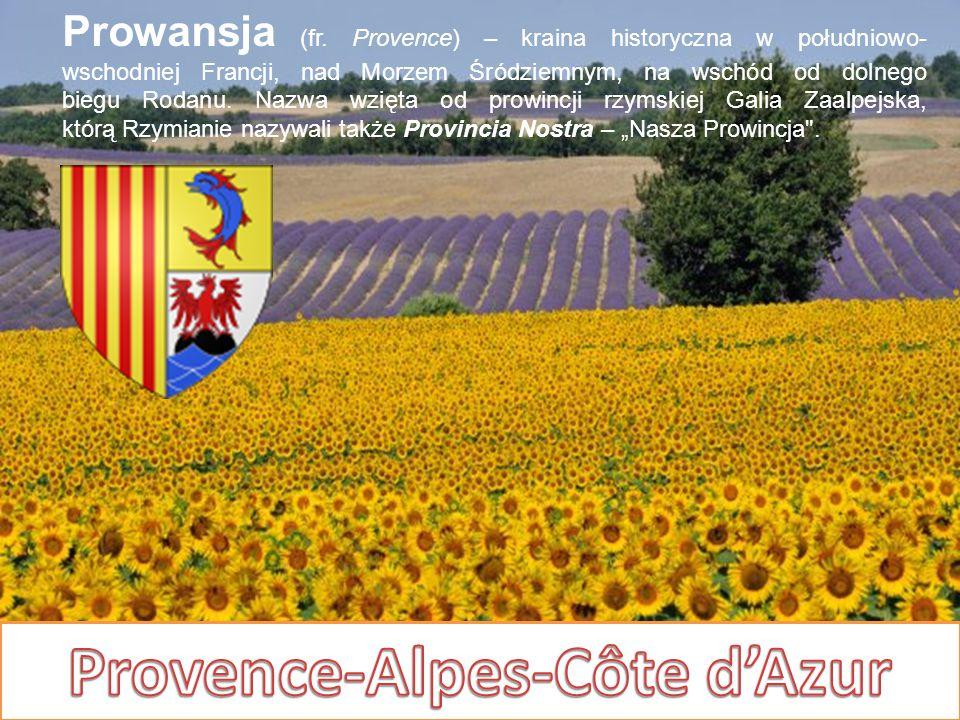Prowansja (fr. Provence) – kraina historyczna w południowo- wschodniej Francji, nad Morzem Śródziemnym, na wschód od dolnego biegu Rodanu. Nazwa wzięt
