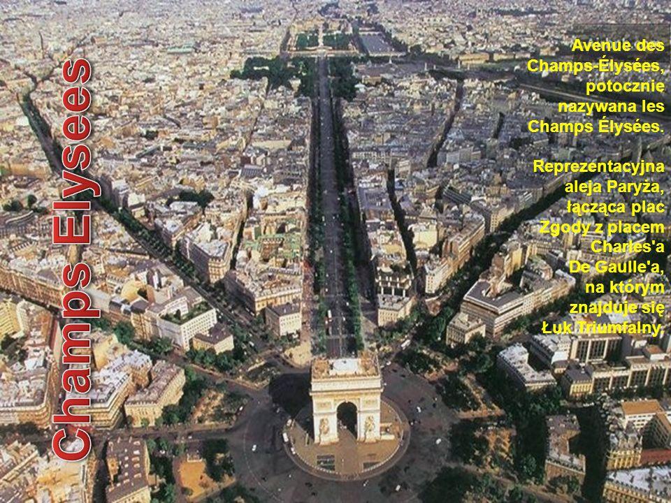 Avenue des Champs-Élysées, potocznie nazywana les Champs Élysées. Reprezentacyjna aleja Paryża, łącząca plac Zgody z placem Charles'a De Gaulle'a, na