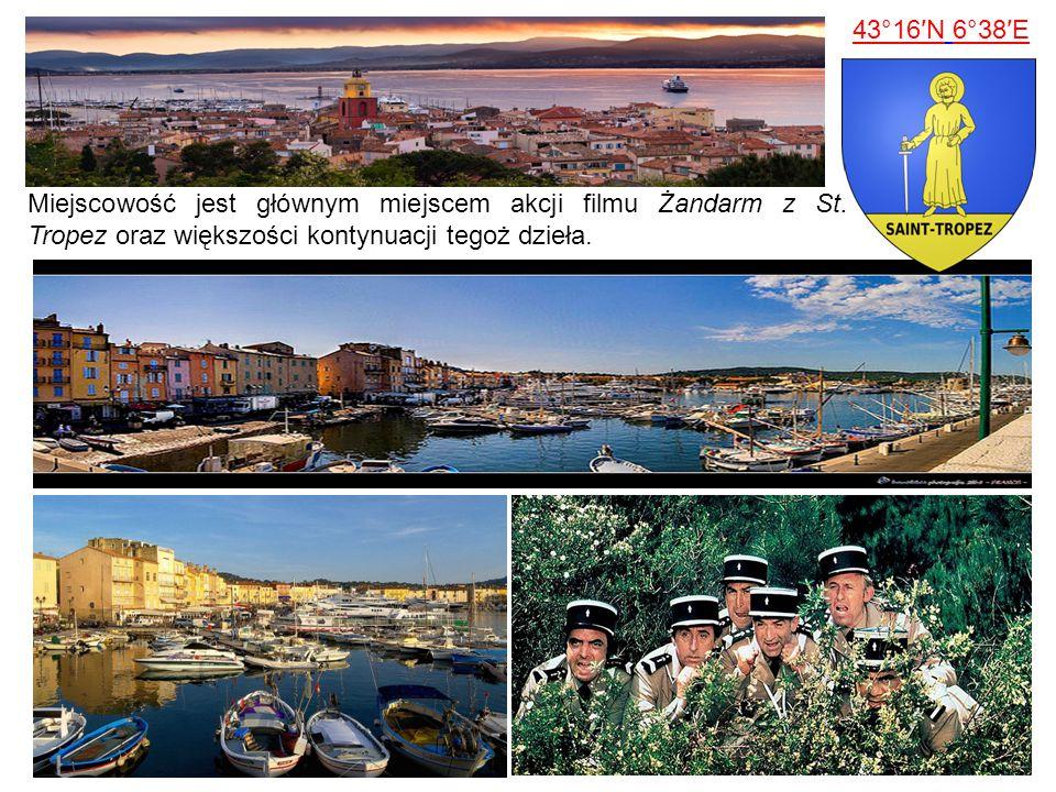 Miejscowość jest głównym miejscem akcji filmu Żandarm z St. Tropez oraz większości kontynuacji tegoż dzieła. 43°16′N 6°38′E