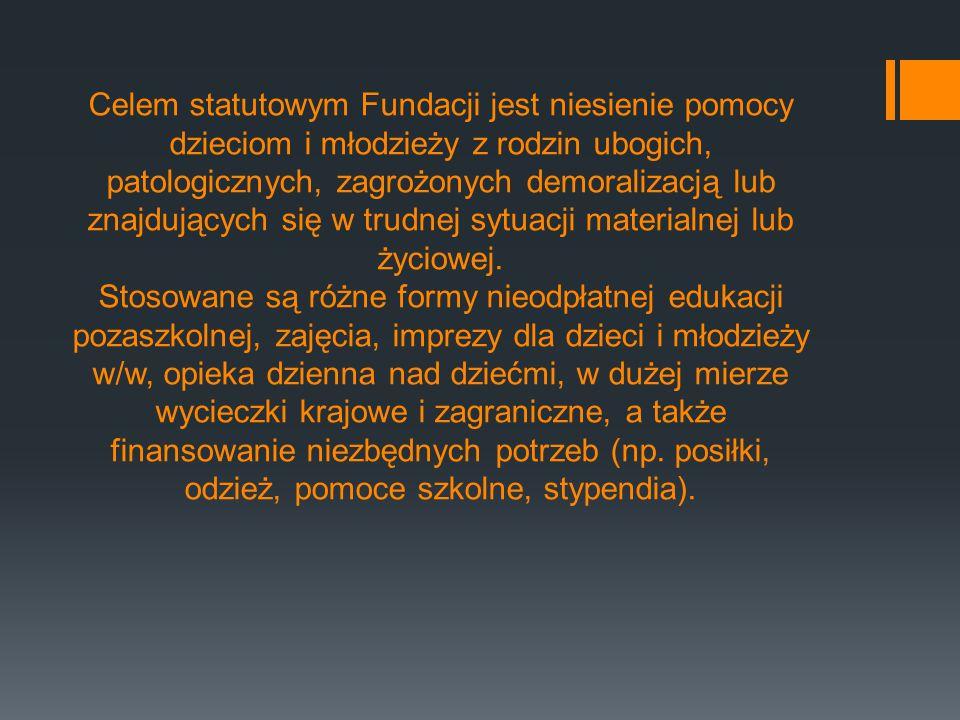 Majątek Fundacji stanowi wkład pieniężny w kwocie 5000 zł stanowiący fundusz założycielski Fundacji.