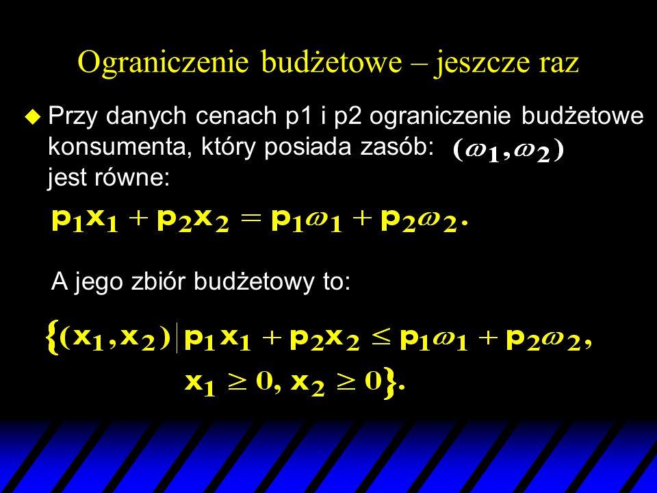 x1x1 22 11 x2x2 Czysty efekt substytucyjny  Zwykły efekt dochodowy  Efekt dochodowy zasobu  Równanie Słuckiego – jeszcze raz