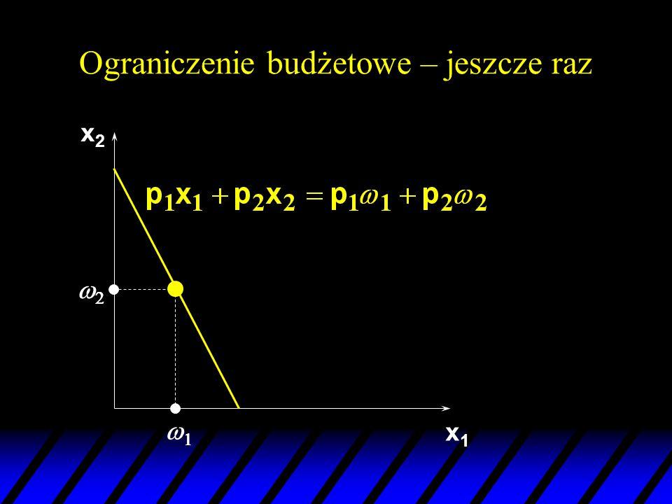 Równanie Słuckiego – jeszcze raz u Słucki: zmiana w popycie na skutek zmiany ceny jest sumą: –czystego efektu substytucyjnego –efektu dochodowego.