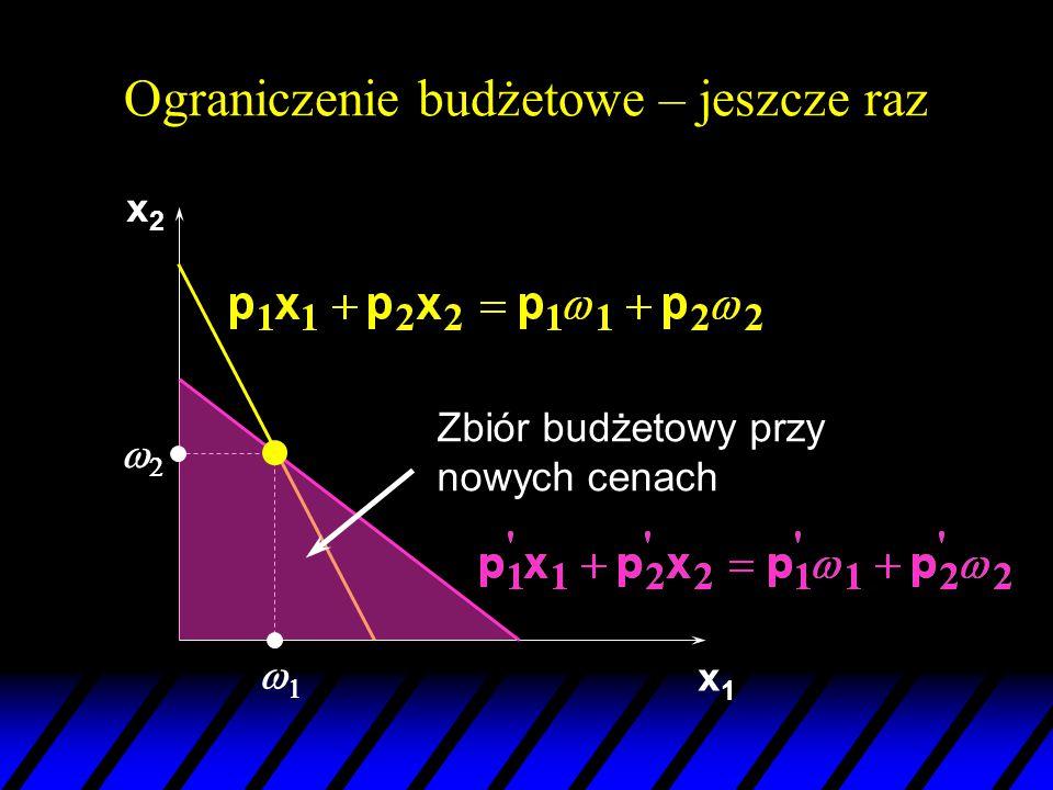x1x1 22 11 x2x2 x2'x2' x1 x1 x2 x2 Początkowe ceny (p 1 ',p 2 ').