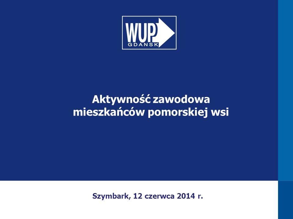 Szymbark, 12 czerwca 2014 r. Aktywność zawodowa mieszkańców pomorskiej wsi