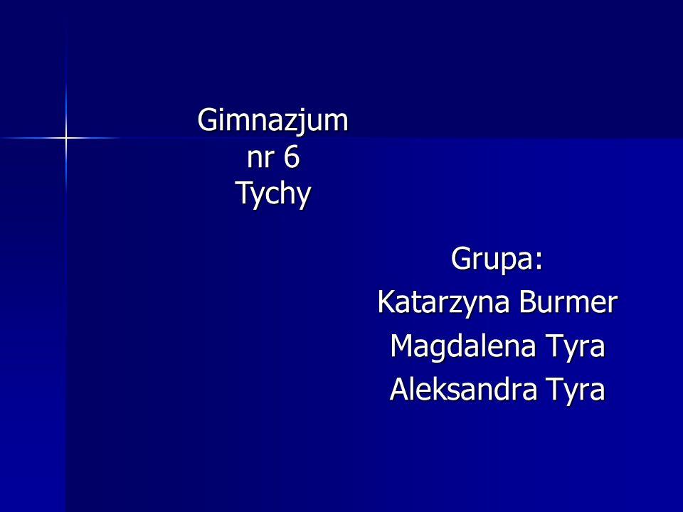 Grupa: Katarzyna Burmer Magdalena Tyra Aleksandra Tyra Gimnazjum nr 6 Tychy