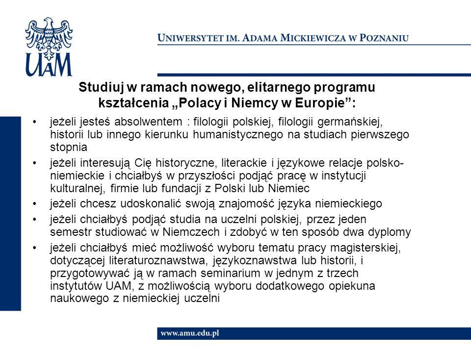 """Co wyróżnia program kształcenia """"Polacy i Niemcy w Europie ."""