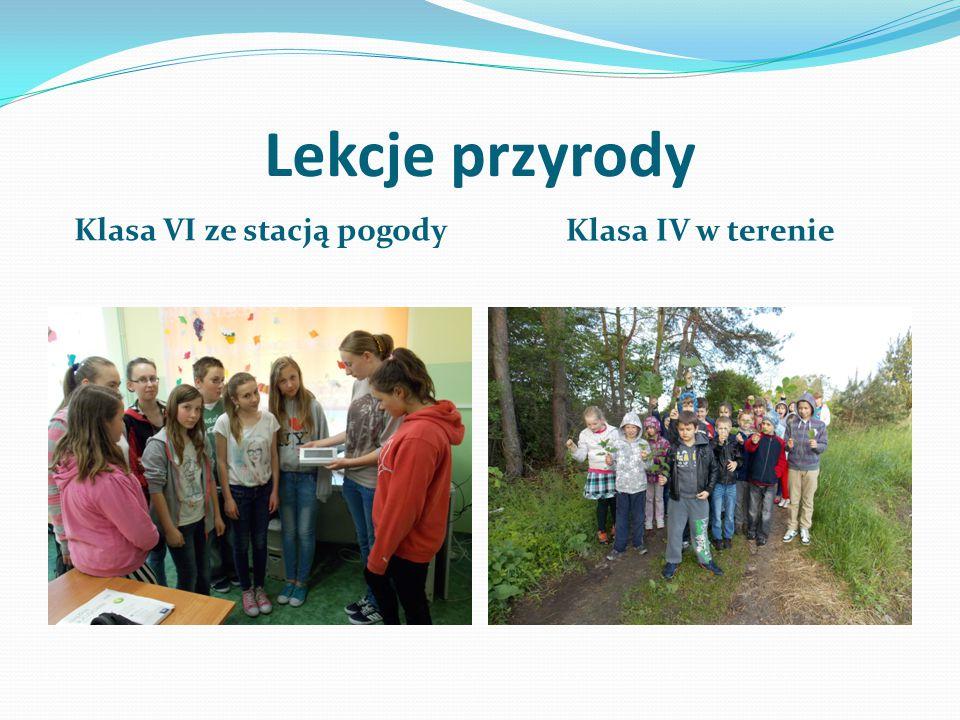 Lekcje przyrody Klasa VI ze stacją pogody Klasa IV w terenie