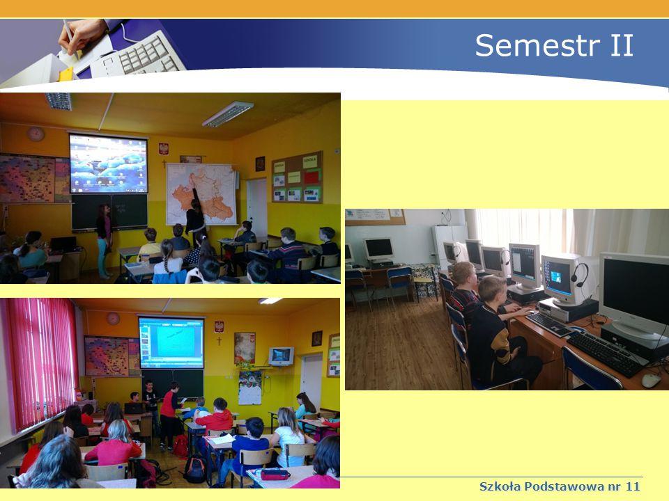 """Semestr II Szkoła Podstawowa nr 11 """" Jedenaście bajek od jedenastki - projekt edukacyjny realizowany pod kierunkiem p."""