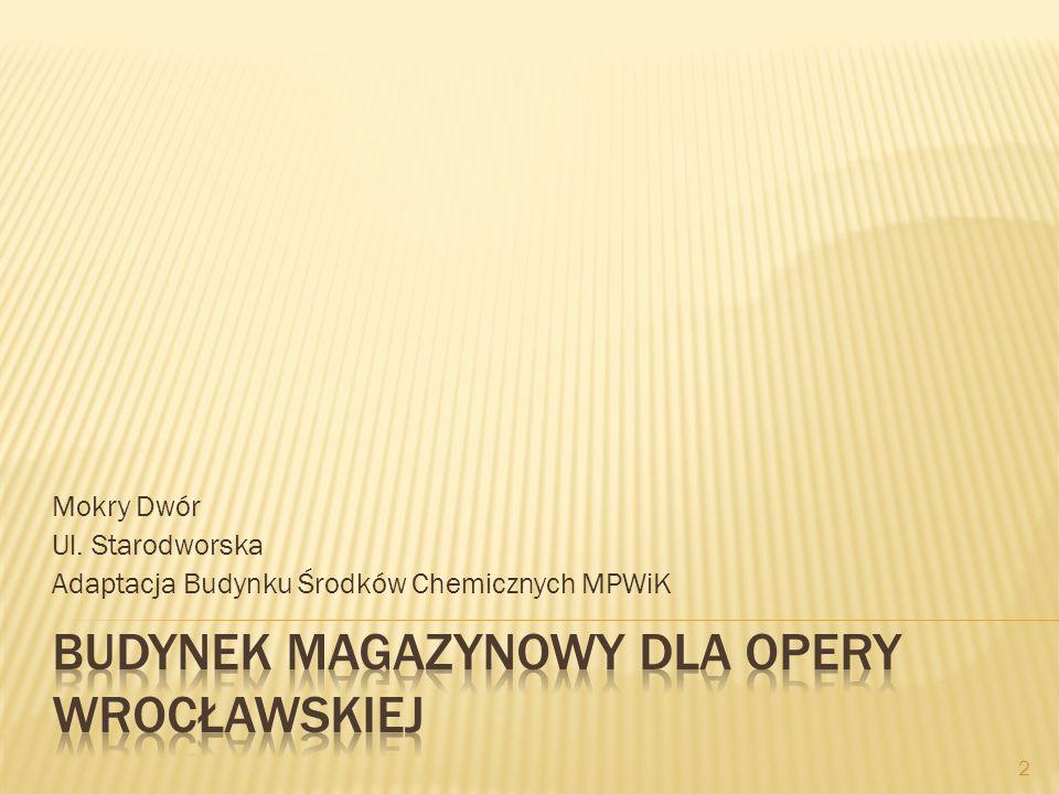Mokry Dwór Ul. Starodworska Adaptacja Budynku Środków Chemicznych MPWiK 2