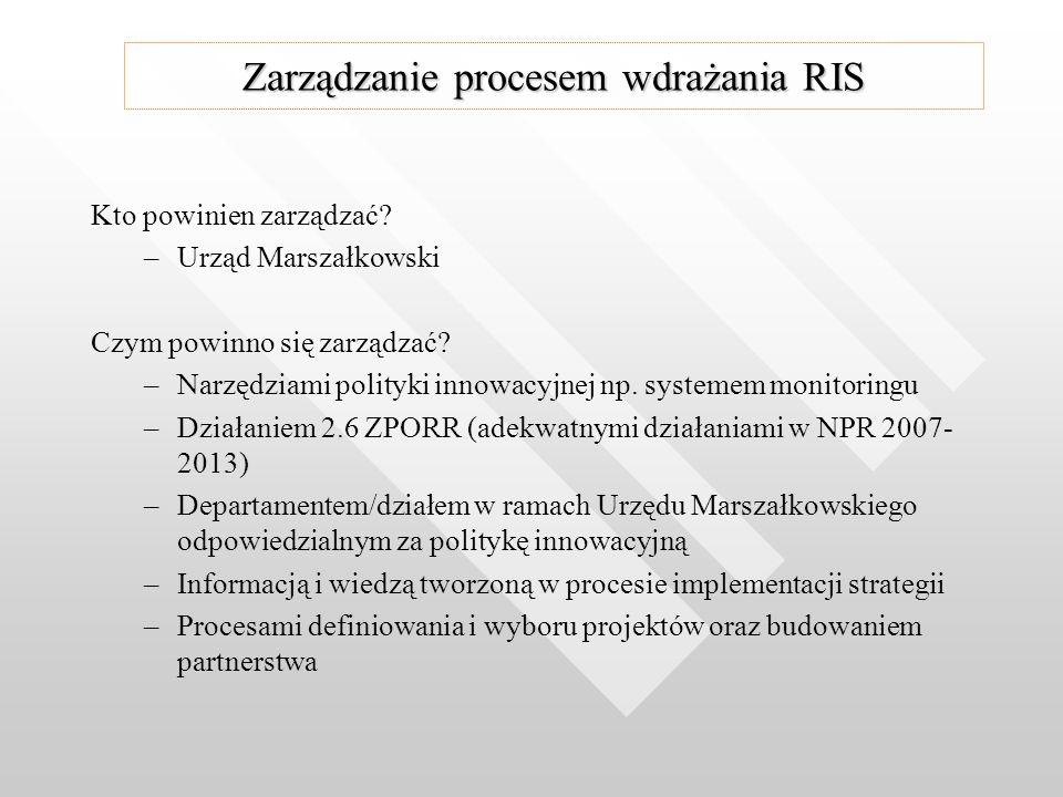 Kto powinien zarządzać. – –Urząd Marszałkowski Czym powinno się zarządzać.