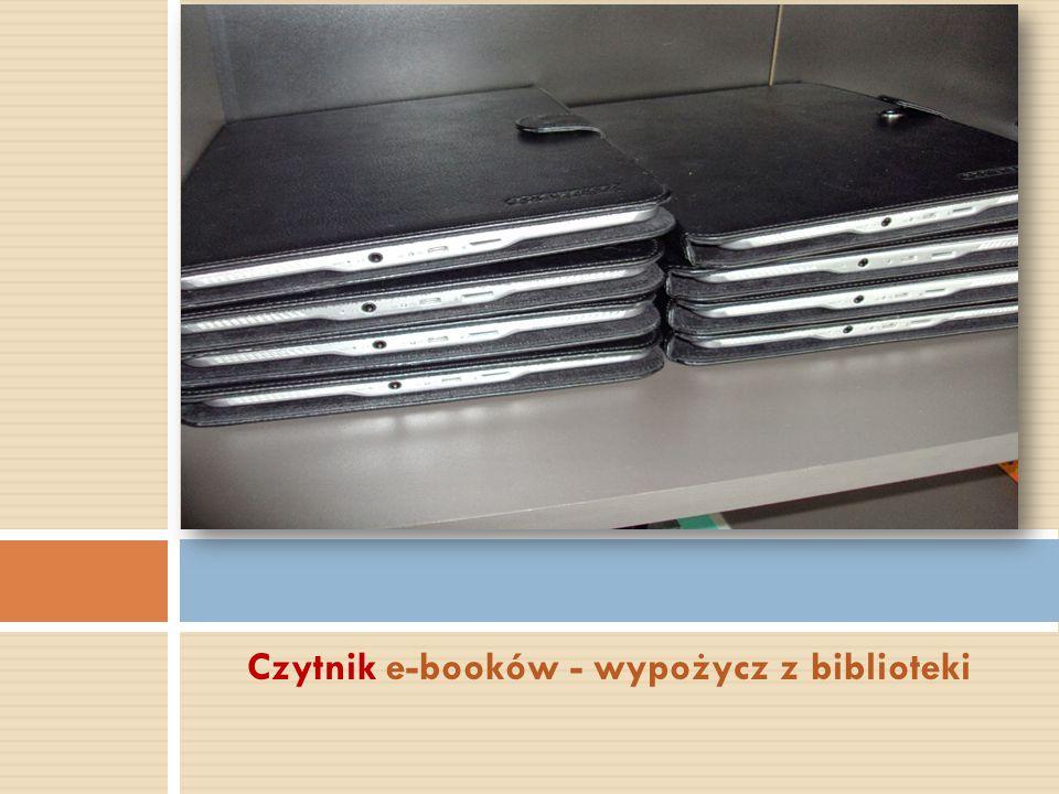 Czytnik e-booków - wypożycz z biblioteki