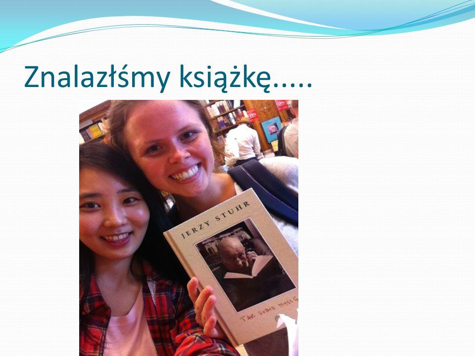 Znalazłśmy książkę.....
