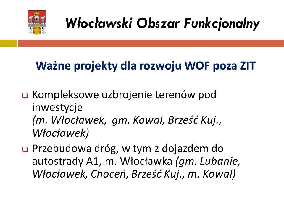 Włocławski Obszar Funkcjonalny Ważne projekty dla rozwoju WOF poza ZIT  Kompleksowe uzbrojenie terenów pod inwestycje (m. Włocławek, gm. Kowal, Brześ